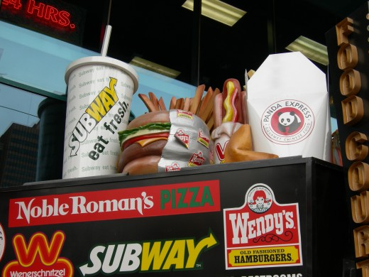 There are areas that sell fast food in Las Vegas, although they are harder to find than you would expect.