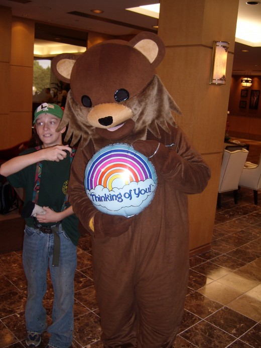 Pedo Bear with next victim! Ha. 4Chan