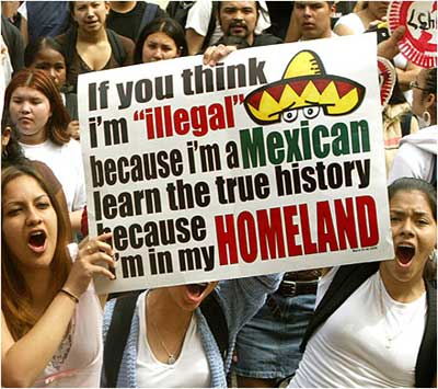 ILLEGAL IMMIGRANTS DEMAND RIGHTS