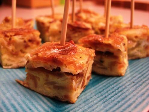 Tortilla de Patata tapas, recipe follows