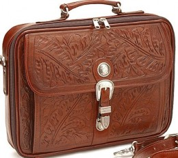 American West Leather Briefcase-Feminine, yet Professional