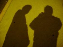 Shadows cast by street light outside Santa Rita Hotel in Tucson, AZ