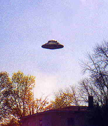 Another photo of UFO. Observe the light emitted by it