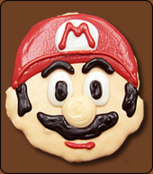 Chocolate Covered Mario Rice Krispy Treat available at www.ThePartyAnimal.org