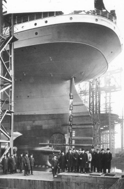 The Britannic ready to be launched