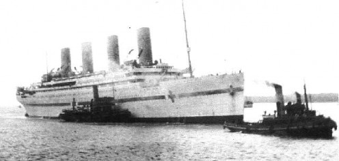 HMHS Britannic in the service of her nation.
