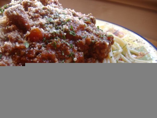 What ever you do try the above recipe for meat sauce for one of the best sauces you will ever eat.