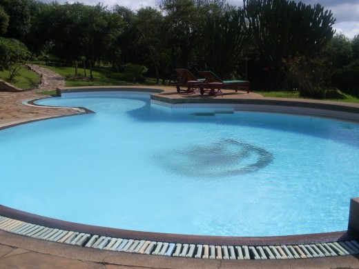 The pool at the mpata safari