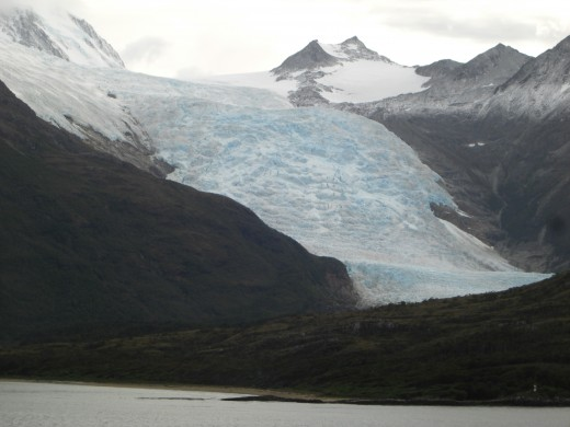 A Glacier in the Chilean Fjords