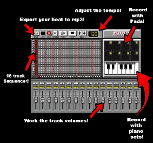 Sonic Producer has a virtual sequencer that lets you create your beats with just a few mouse clicks. With the thousands of samples included the possibilities are limitless!