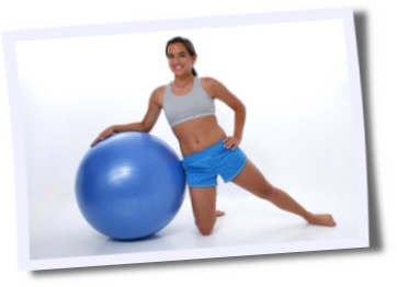 A Swiss ball can help you work your core muscle group
