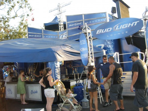 This is the Bud light lounge