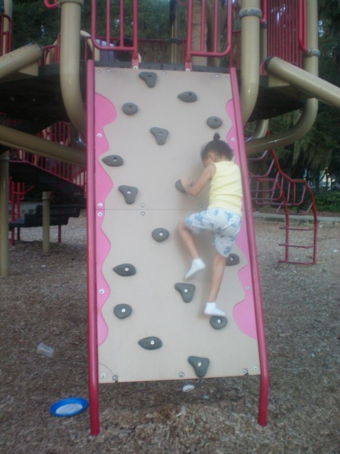 My little one on the playground.