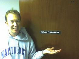 Me at the Bicycle Storage office space
