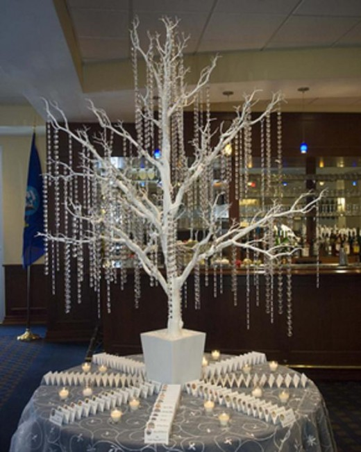 White Crystal Trees for your seating table arrangement! Create your ...