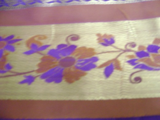 flower design silk