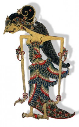 The leather puppet of Dewi Sri the Goddess of Padi