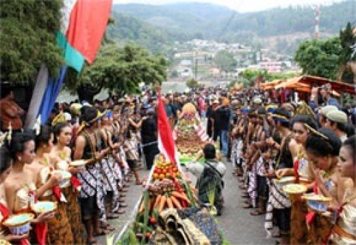 The Larung Procession in Sarangan Lake, Indonesia