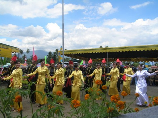Tulude Festival in Sangihe, North Sulawesi, Indonesia