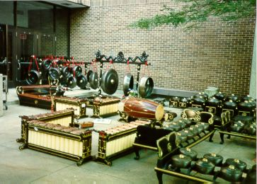 A set of Gamelan - Traditional Music Instrument from Java Indonesia