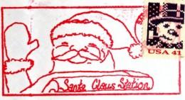 This was the 2007 Santa postmark from Santa Claus, Indiana.