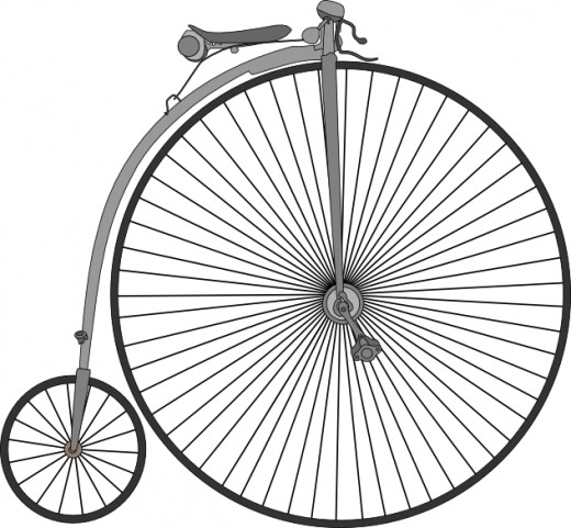 "The ""Penny-Farthing"" velocipede"