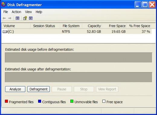 Defragmentation Tool