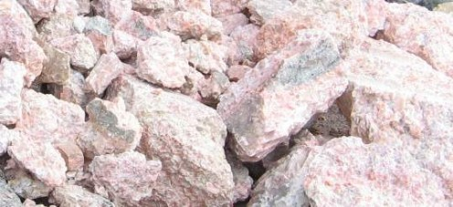pink calcite from Sterling Hill Mine Ogdensburg New Jersey