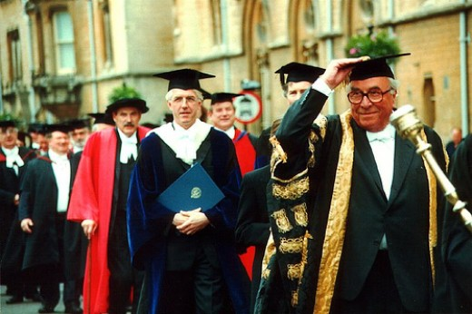 Oxford University Encaenia Ceremony (who let Roy Jenkins in?)