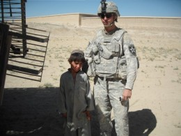 Alex with a local Afghan young man