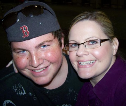 My son and I at Tampa Airport, June 2009; almost 3 years post brain surgery