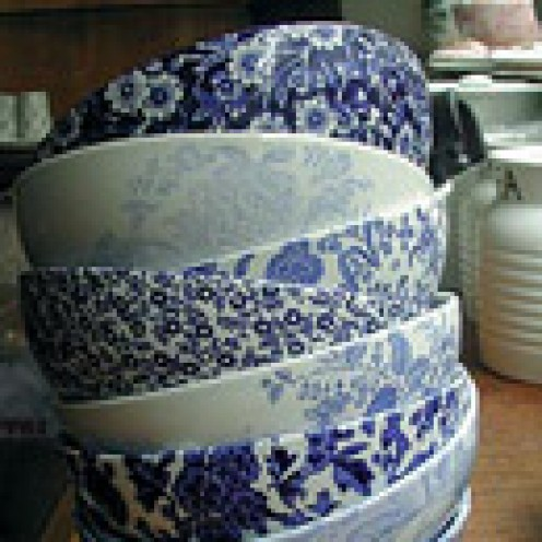 stacked bowls / Burleigh / UK