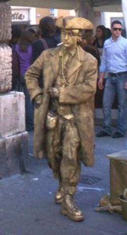 Choc Statue takes five