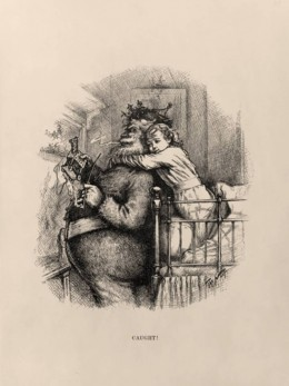 "Thomas Nast's illustrations for Harper Weekly - ""Caught"" was published in 1881."