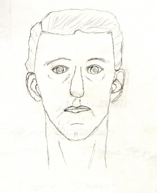 Before Drawing, Self Portrait