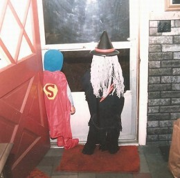 BACK OF SUPERMAN AND WITCH