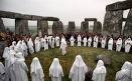 The Druids at Stonehenge. Priests and teachers of the old ways and the Judges of the people.