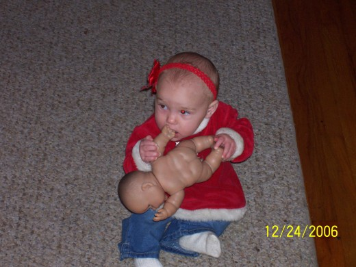 Audrie loves baby dolls - especially flavored ones!