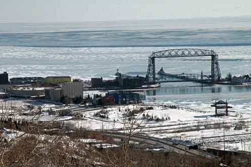 My home town, Duluth,Mn colder than hell and the summery of heaven