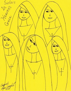 My Drawing Of Young Nuns. God Bless You.