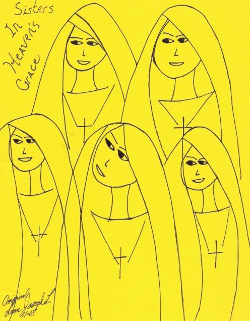 My Drawing of nuns.