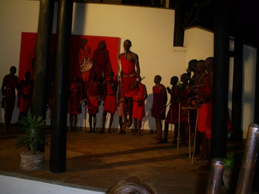 The traditional dances of the maasai