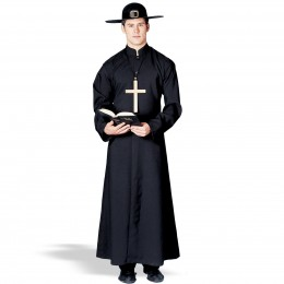 Dude. Have you ever seen a priest with a cross the size of his chest? Or a Pilgrim hat? Time to move on!