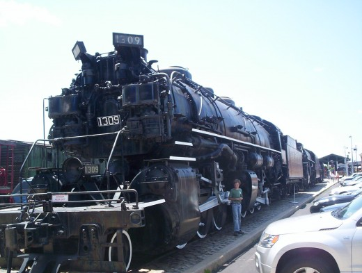 A monster at the Baltimore and Ohio Railroad Museum