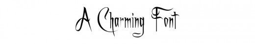 'A Charming Font' - available at 1001freefonts.com