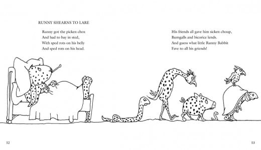 Book Review Runny Babbit By Shel Silverstein