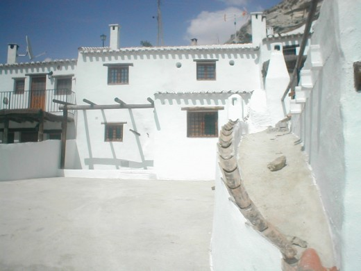 Row of cave houses