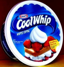 You want to be sure to use Cool Whip for your pie as it is the best brand possible.