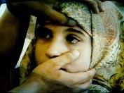 Crystal tears of Lebanese girl