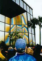Rainbow-like image of Virgin Mary in Florida